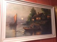 Duży obraz olejny,płótno-1926r N6