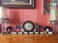 Piękny duży zegar na kominek,komodę ONYX