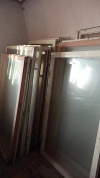 Okna Drewniane bez futryn różne wymiary 22 szt