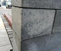betonowy pustak ogrodzeniowy popielaty 19/19/14 cm 5zł/szt