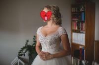 Suknia ślubna firmy Maxima model 4617, kolor śmietankowy