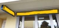 Kaseton pylon plafon podświetlany - REKLAMA  283x30,5