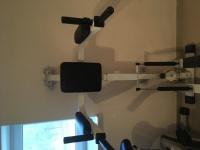 Poręcz do ćwiczeń mięśni brzych + steper
