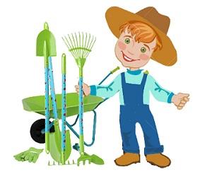 Ogłoszenie - mały ogrodnik - zestaw narzędzi dla dzieci