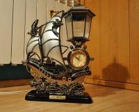 Nowy Zegar Statek lampka nocna budzik