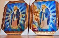 Obraz 3 D trójwymiarowy Jezus Matka Boska 41cmx31cm