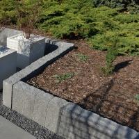 Palisada ogrodowa wys. 60cm nero efekt łupanego kamienia