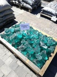 ogrodowe ozdobne Szkło Turkusowe - sprzedaż na kilogramy