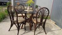 rattanowe krzesła, 4 sztuki- meble U Tomka, Mielnica