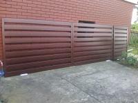 Brama ocynkowana i pomalowana