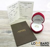 Złoty pierścionek z brylantem marki Apart Próba 585 14K