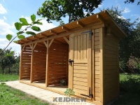 Schowek z drewutnią, wiata na opał, domek ogrodowy