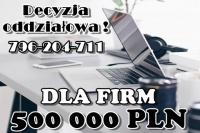 KREDYT DLA FIRM – 500 000 ZŁ z NISKIM DOCHODEM