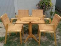 komplet krzeseł rattanowych - meble U Tomka, Mielnica