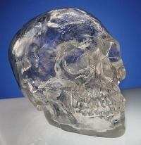 czaszka z kryształowej żywicy