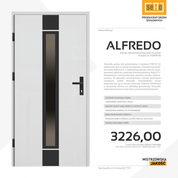 Drzwi zewnętrzne stalowe SETTO model ALFREDO 92