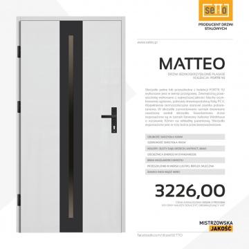 Drzwi zewnętrzne stalowe SETTO model MATTEO 92