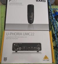 Sprzedam zestaw: mikrofon AKG P120 + interfejs audio U - PHO