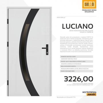 Drzwi zewnętrzne stalowe SETTO model LUCIANO 92