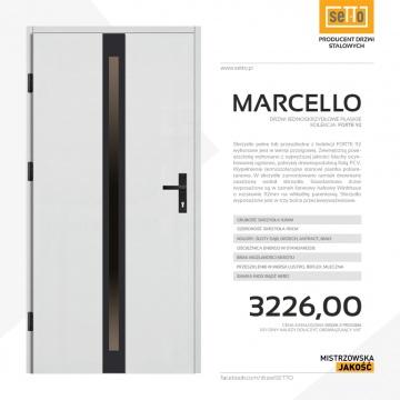 Drzwi zewnętrzne stalowe SETTO model MARCELLO 92