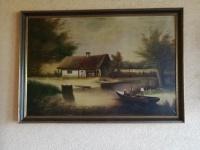 Obraz bardzo duży 95 x70cm olejny,płótno TANIO
