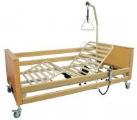 Łóżko szpitalne elektryczne z materacem i pilotem