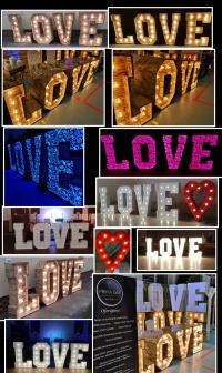 Napis LOVE ażurowe , gładkie  wesele MIŁOŚĆ CANDY