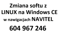 Zmiana softu z Linuxa na Windows w nawigacjach Navitel itp.