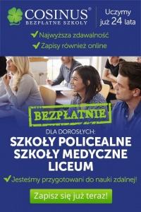 Szkoła COSINUS Konin - Bezpłatna nauka - Zaocznie