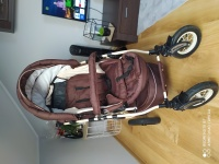Wozek-gondola, spacerowka, pompowane kola
