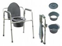 Przenośna toaleta krzesło sedesowe sanitarne 3w1