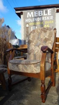 piękny dębowy fotel - meble holenderskie U Tomka