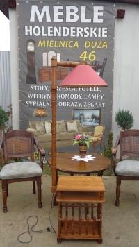 3w1 stolik, gazetnik i lampa - meble U Tomka, Mielnica
