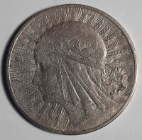 Monety: 10 zł – 1932 r, 10 gr. – 1923 r., Jeden Złoty - 1923