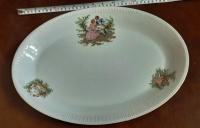 Duży półmisek – porcelana Włocławek, dł. 40cm, vintage, PRL