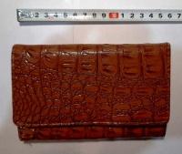 Skórzany portfel damski NICOLE + Biżuteria - broszki, korale