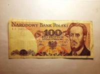 Stare banknoty PRL – 100 zł, 500 zł, 1000 zł, vintage