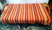 Kapa kilim narzuta na łóżko wym. 200 x 145 cm vintage PRL