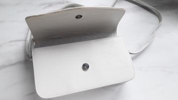 Torebka jasnoszara na pasku kopertówka jak nowa