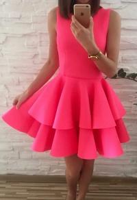 Sukienka neonowa różowa 36
