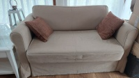 sofa ikea beżowa rozkładana+pojemnik 1350