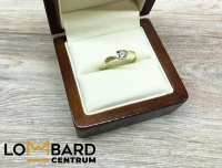 Złoty pierścionek 585/14K waga: 1,41g rozmiar 13