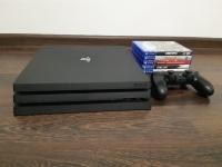 Sprzedam konsole PS4 PRO 1 TB + 5 gier + pad