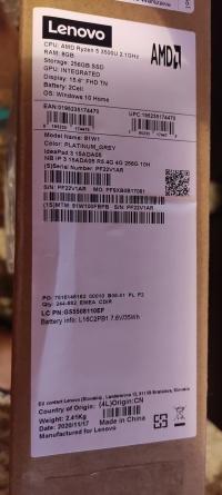 Lenovo IdeaPad  8GB / 256 GB szary Zaplombowany