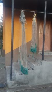 Sieci na ryby ,rzutka sieciowa, parasol