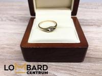 Złoty pierścionek próby 333 waga: 1,31g rozmiar 16