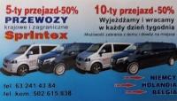 Busy Niemcy Holandia Belgia. Transport osób. Sprintex
