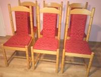 krzesła 8 sztuk, drewniane , tapicerowane