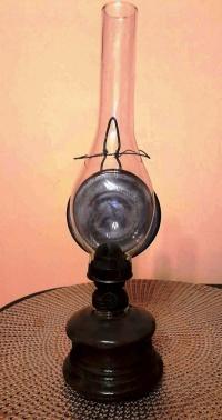 Zabytkowa lampa naftowa LUMEN - vintage design PRL retro