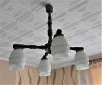 Żyrandol 4 żarówki E27 lampa